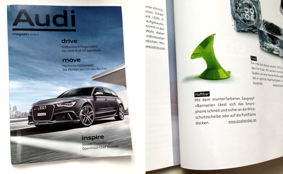 BARNACLE in Audi Magazine