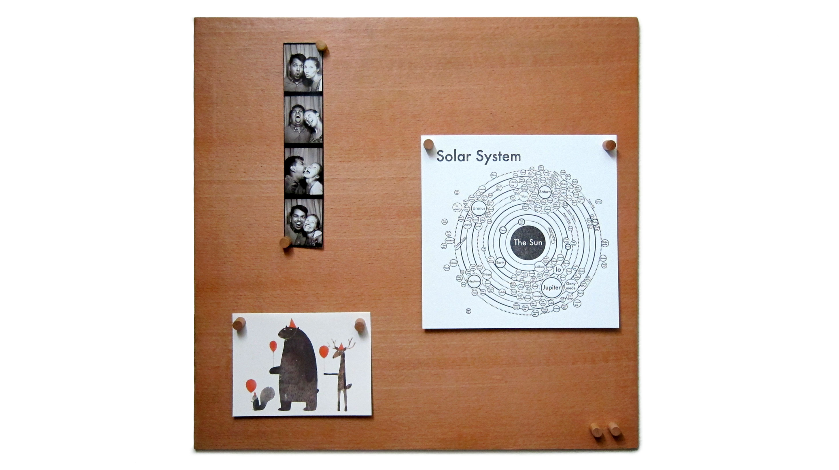 Smorgas Smorgasboard Is A Wooden Magnetic Bulletin Board